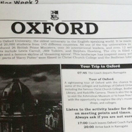 Щоденник зі школи Churchill House, Англія